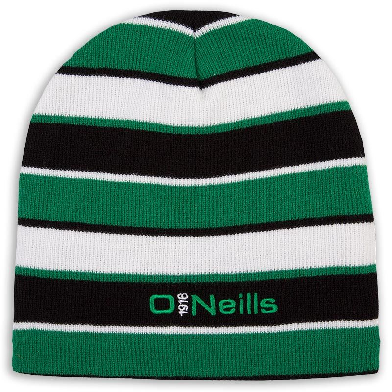 Beacon Beanie Hat Black / Emerald / White