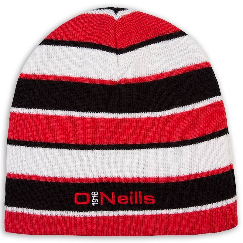Beacon Beanie Hat Black / Red / White