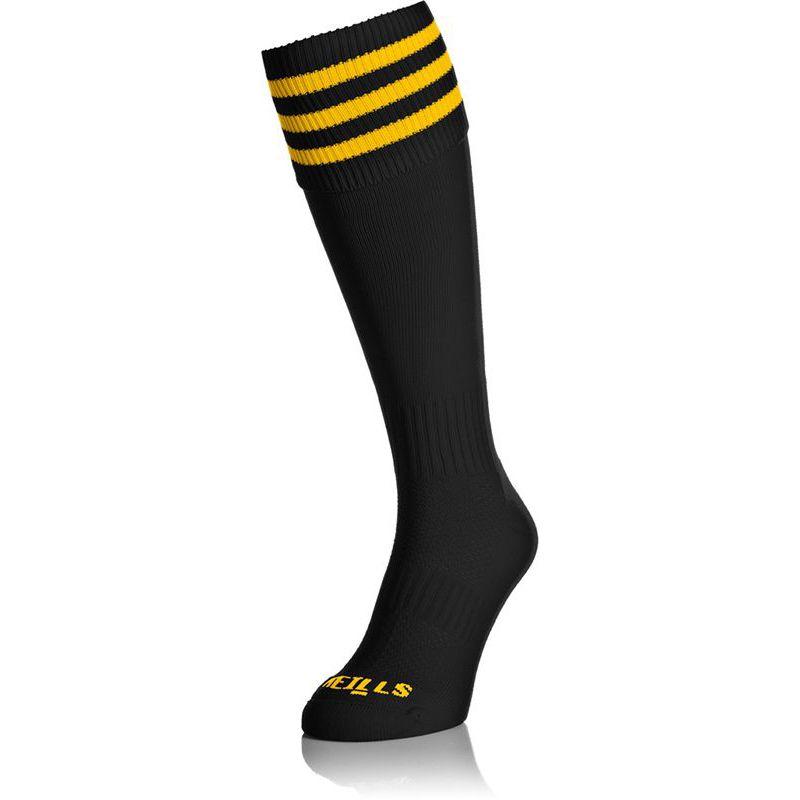 Premium Socks Bars Black / Amber