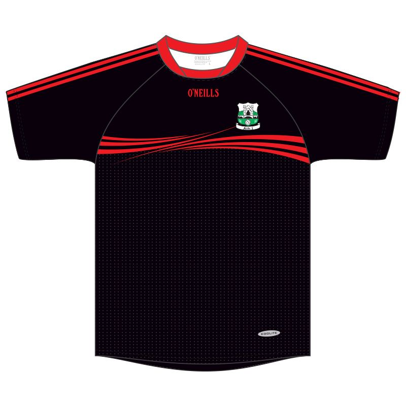 Athy GAA Kids' Short Sleeve Training Top (Black)