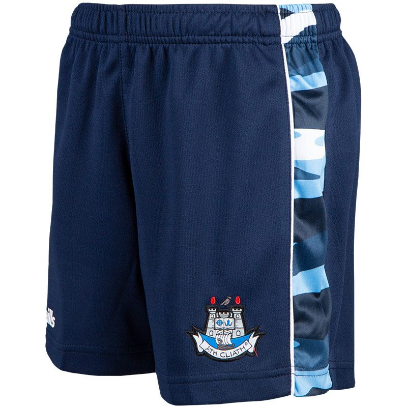 Dublin GAA Kids' Bobby Shorts Marine / Sky Blue / White