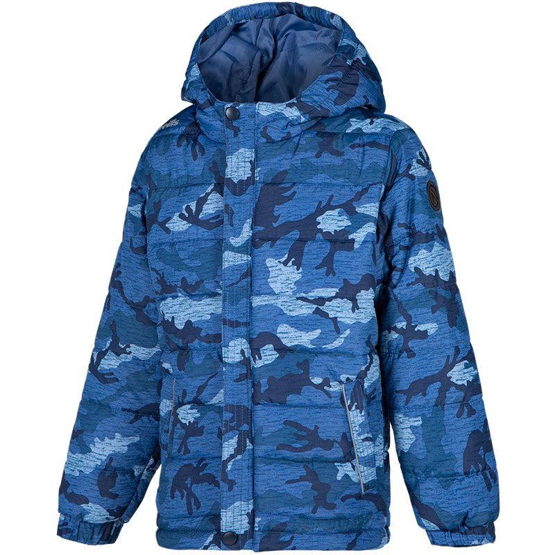 Kids' Bobby Hooded Padded Jacket Blue