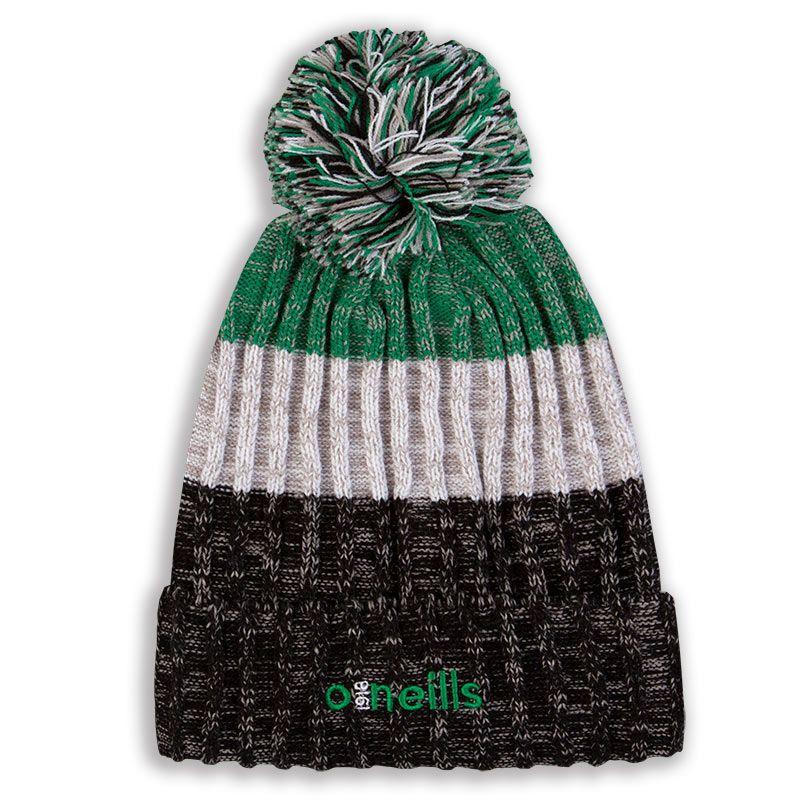 Bowen Bobble Hat Black White Green