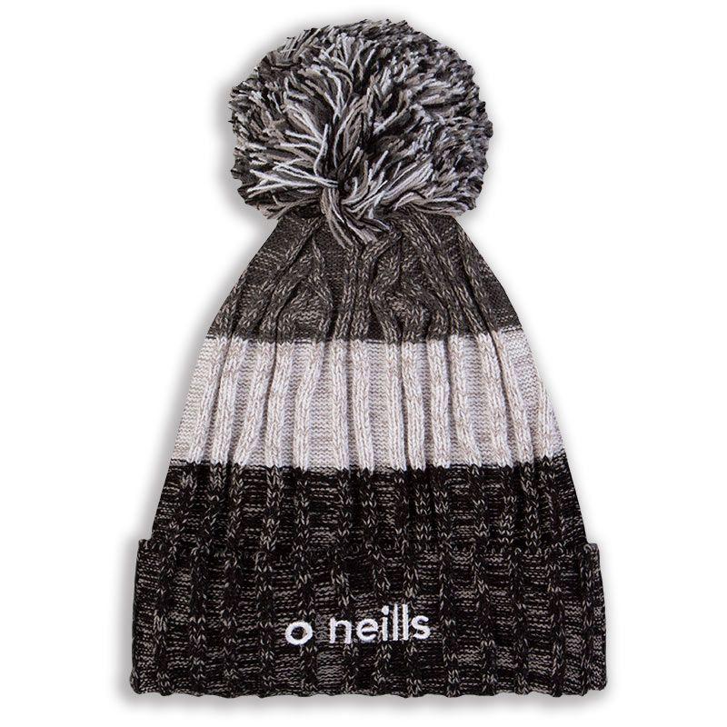 Bowen Bobble Hat Black White Grey