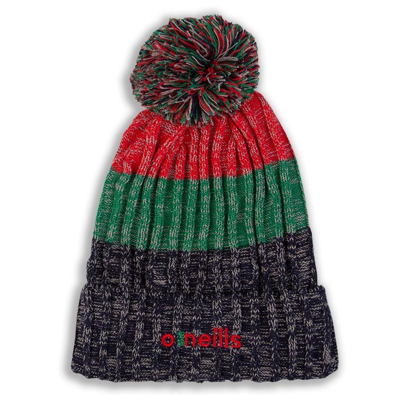 Bowen Bobble Hat Marine Red Green