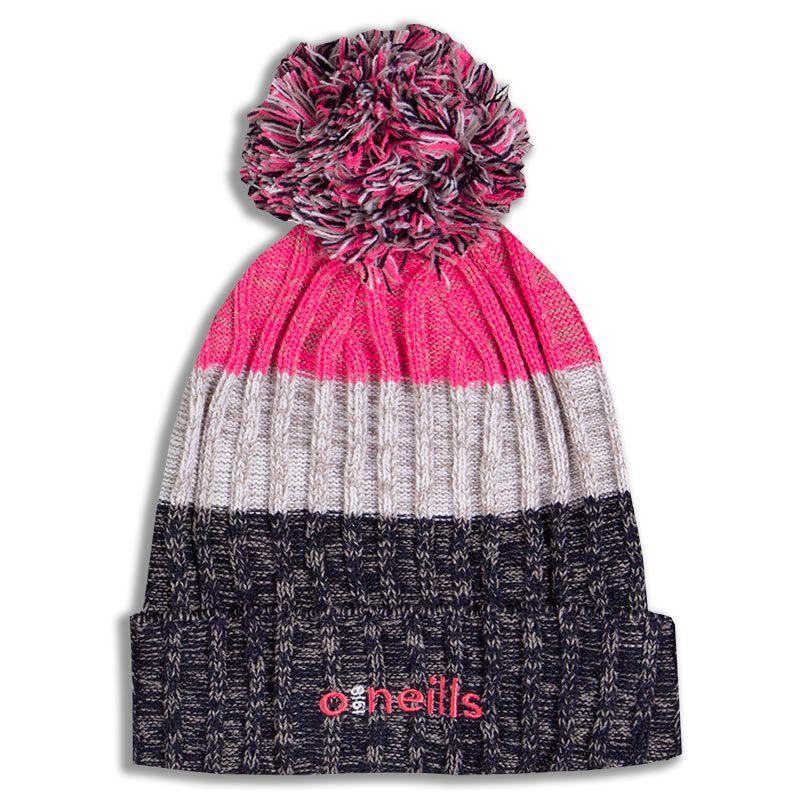 Bowen Bobble Hat Marine White Pink