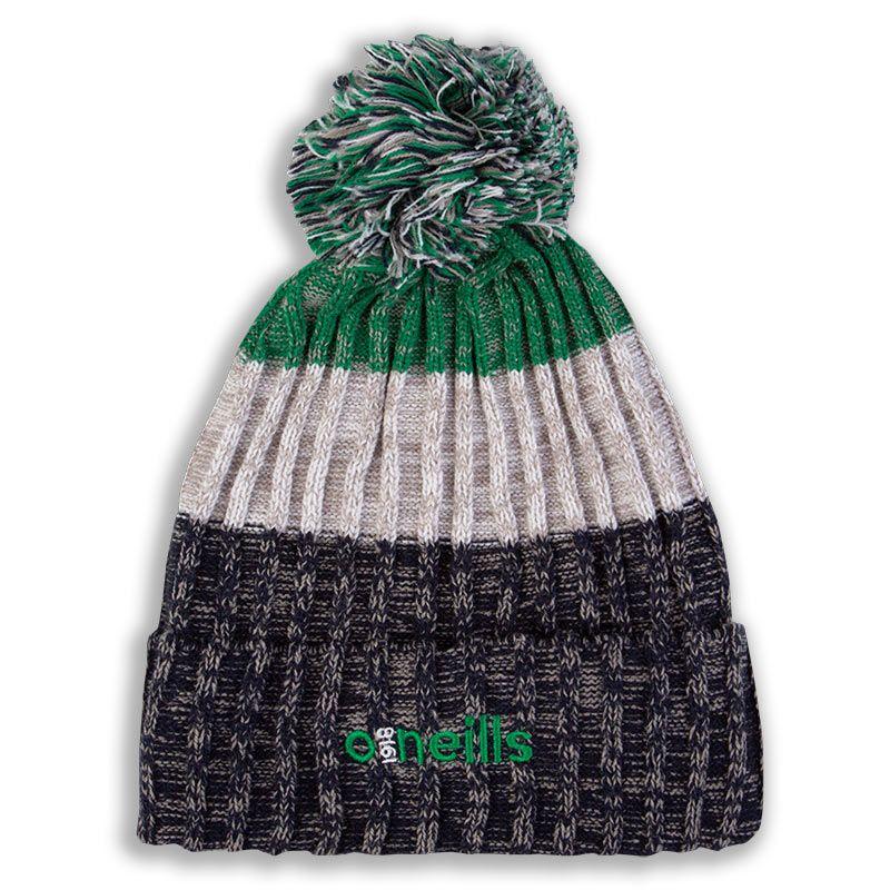 Bowen Bobble Hat Marine White Green
