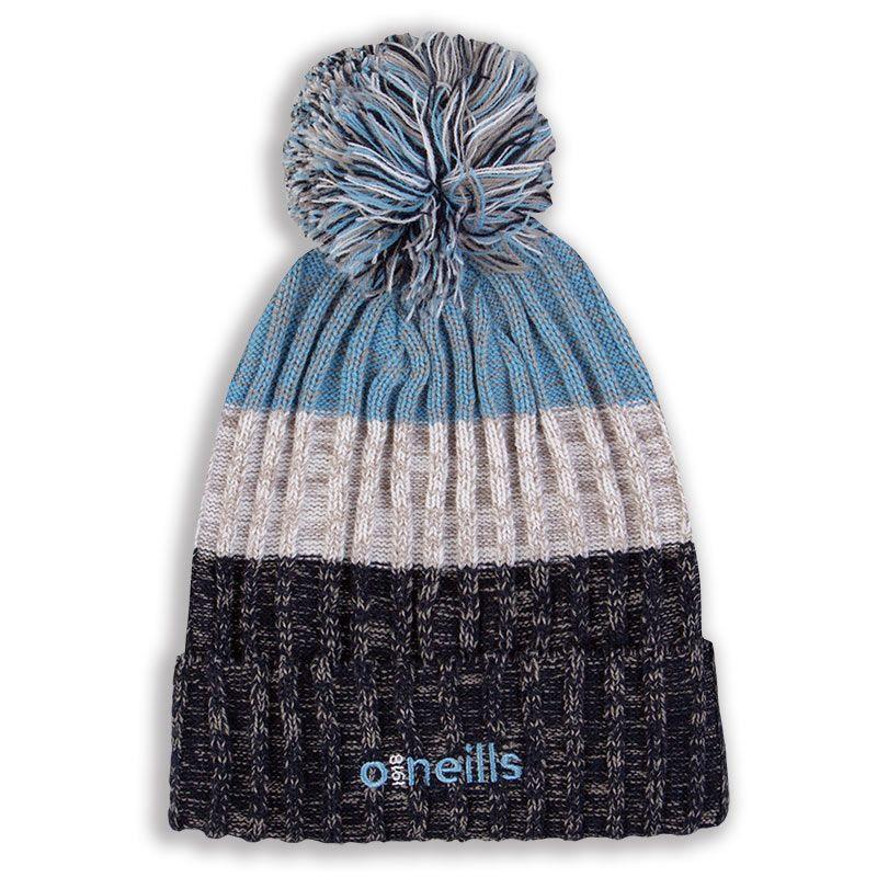Bowen Bobble Hat Marine White Sky