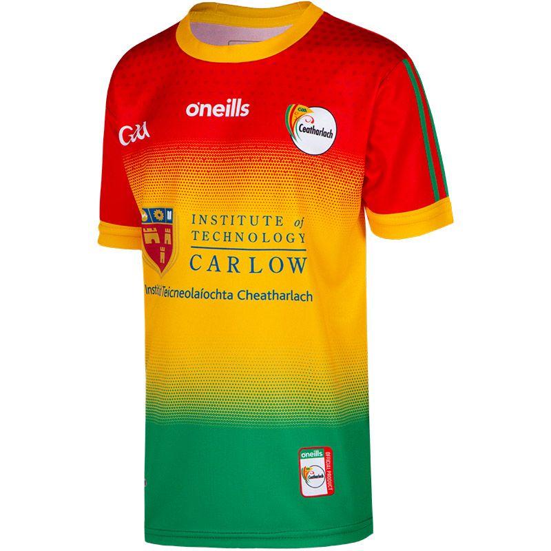 Carlow GAA Kids' 2 Stripe Home Jersey
