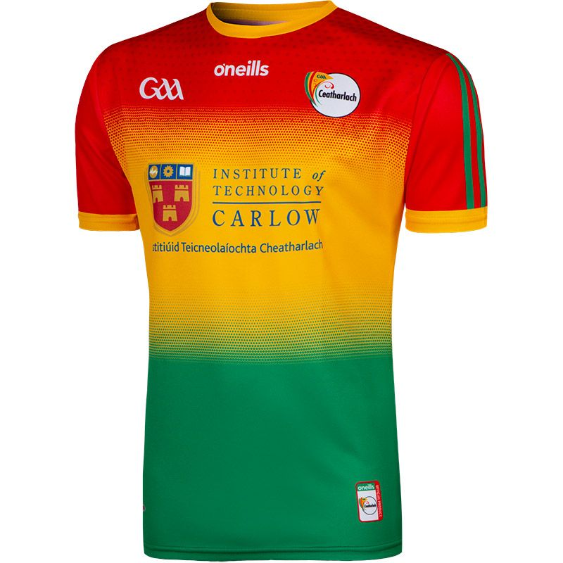 Carlow GAA Player Fit 2 Stripe Home Jersey