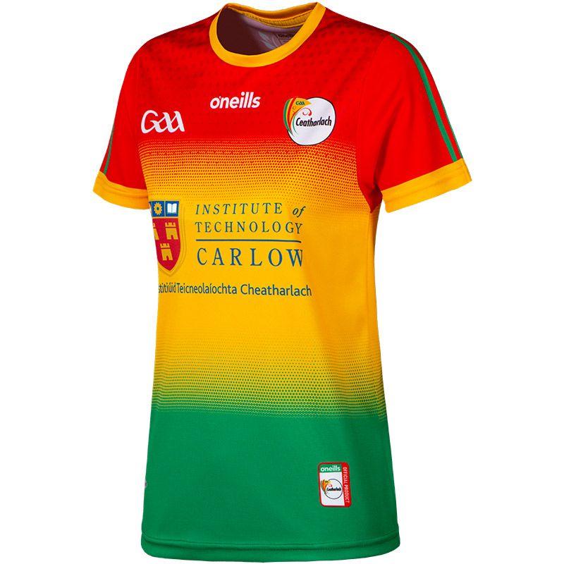 Carlow GAA Women's Fit 2 Stripe Home Jersey