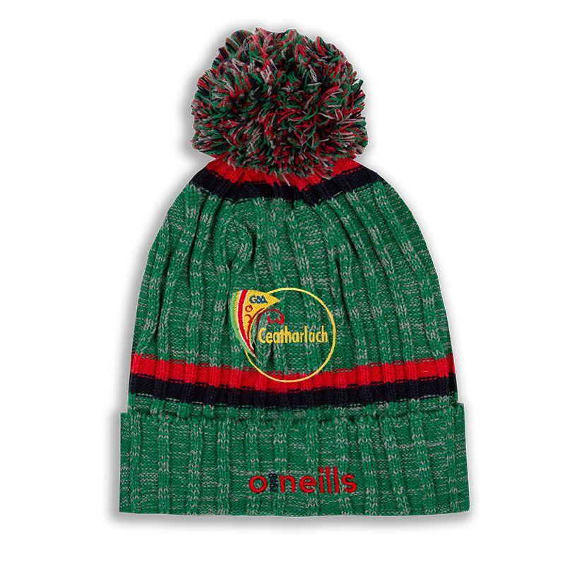 Carlow GAA Nevis Bobble Hat Green / Red / Marine