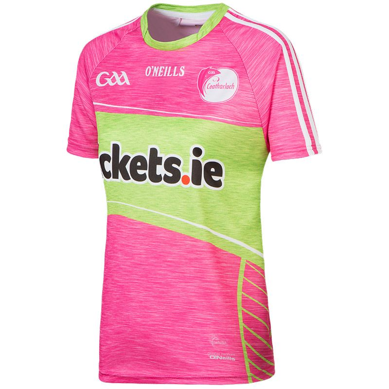 Carlow GAA Womens Fit Jersey (Pink)