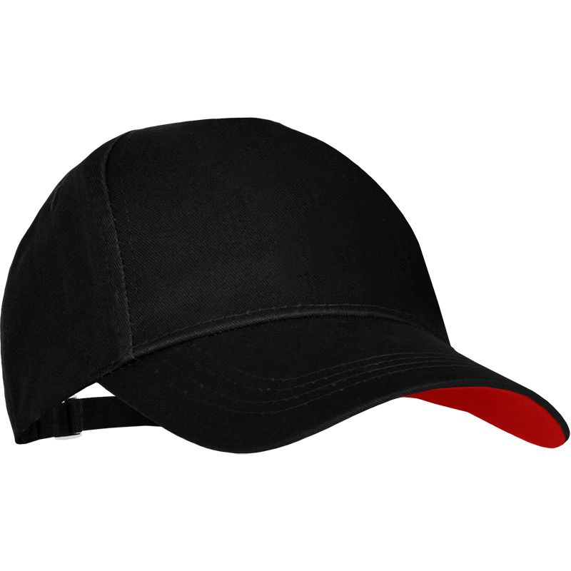 Cassidy Baseball Cap Black Red