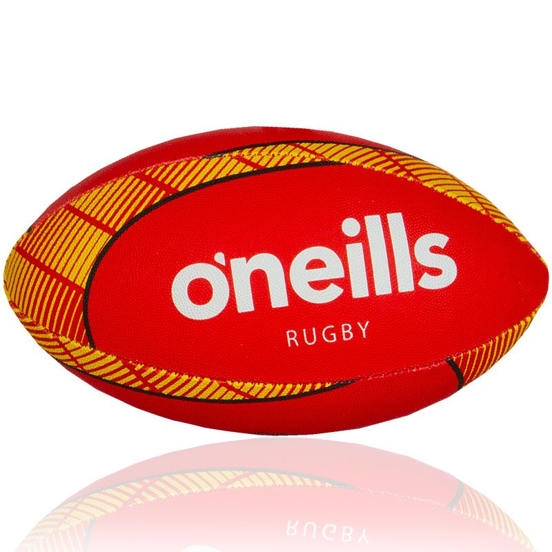 Catalans Dragons Midi Rugby Ball (Red/Amber)
