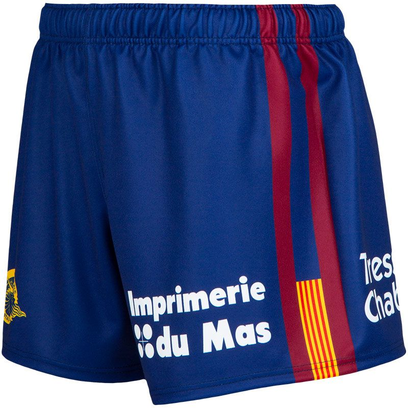 Catalans Dragons Rugby Shorts (Navy/Maroon/Amber) (Kids)