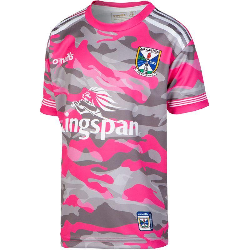 Cavan GAA Kids' Camouflage Short Sleeve Training Top Pink