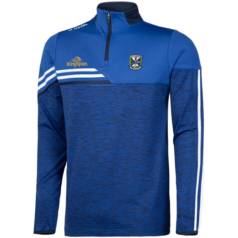 Cavan GAA Men's Nevis Brushed Half Zip Blue / White