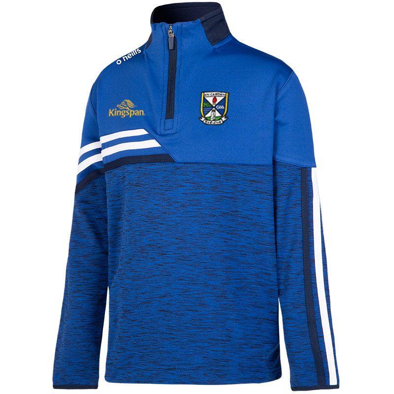 Cavan GAA Kids' Nevis Brushed Midlayer Half Zip Top Blue / White