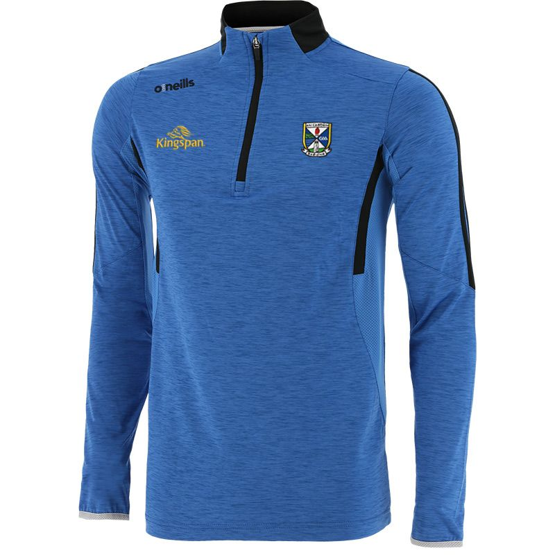 Cavan GAA Men's Raven Brushed Half Zip Blue / Dark Grey / Silver
