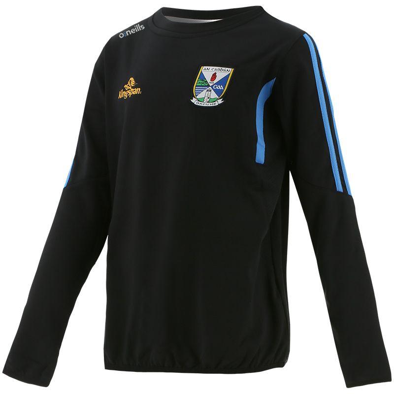 Cavan GAA Kids' Raven Brushed Sweatshirt Dark Grey / Blue / Silver