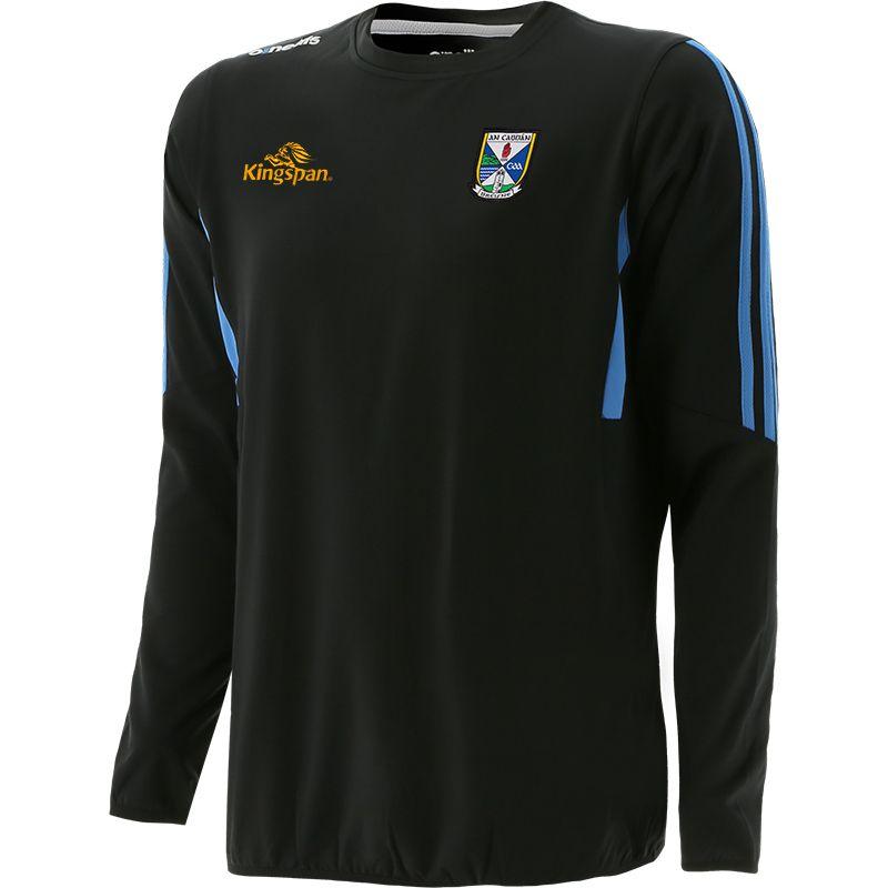 Cavan GAA Men's Raven Brushed Crew Neck Dark Grey / Blue / Silver