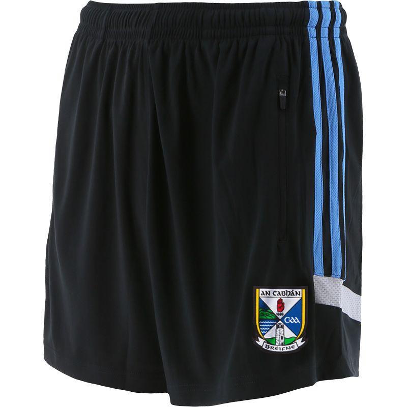 Cavan GAA Kids' Raven Shorts Dark Grey / Blue / Silver