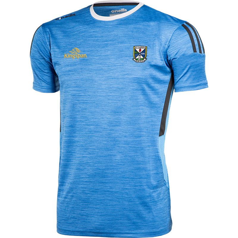 Cavan GAA Kids' Raven T-Shirt Blue / Dark Grey / Silver