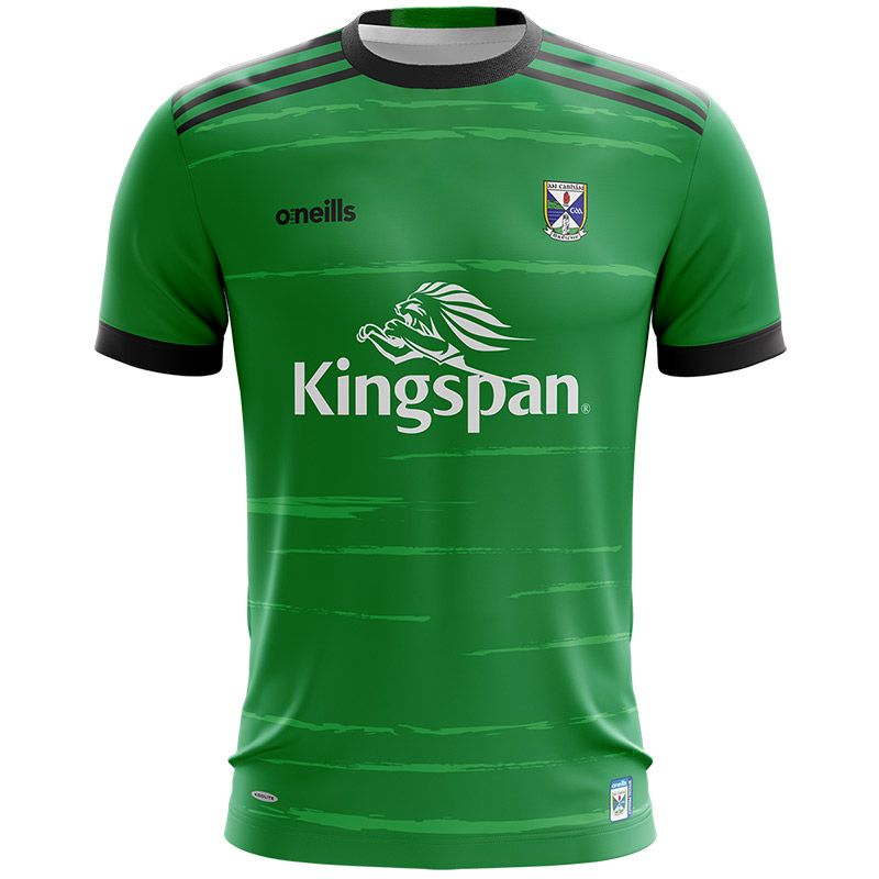 Cavan GAA Kids' Short Sleeve Training Top Green / Black / White