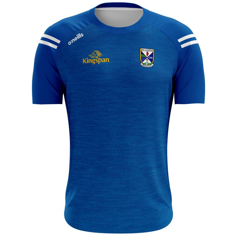 Cavan GAA Kids' Voyager 2 Stripe T-Shirt Royal / White