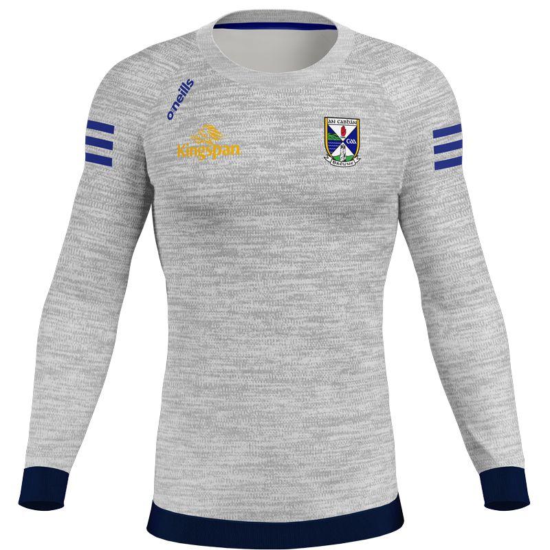 Cavan GAA Kids' Voyager Crew Neck Sweatshirt Grey / Marine / Royal