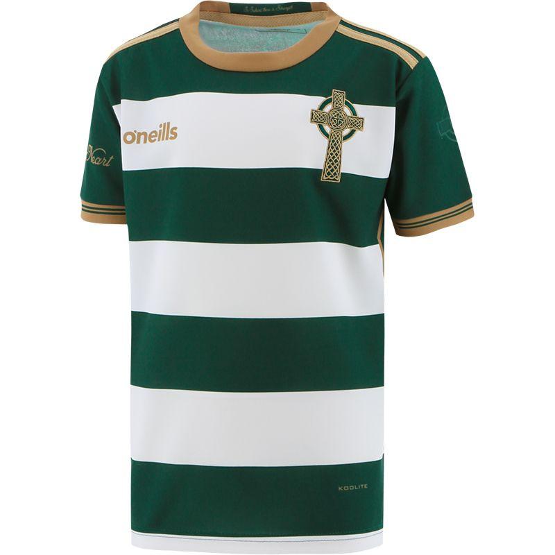 Celtic Cross Hooped Kids' Jersey Green / White
