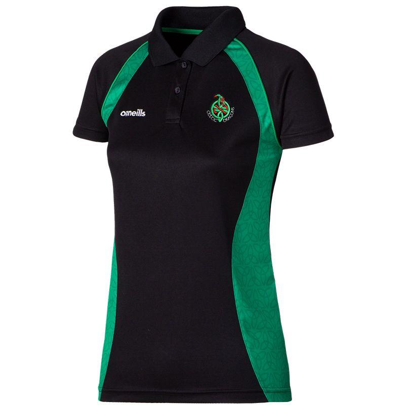Celtic Dragons Morgan Polo Shirt (Black/Emerald)