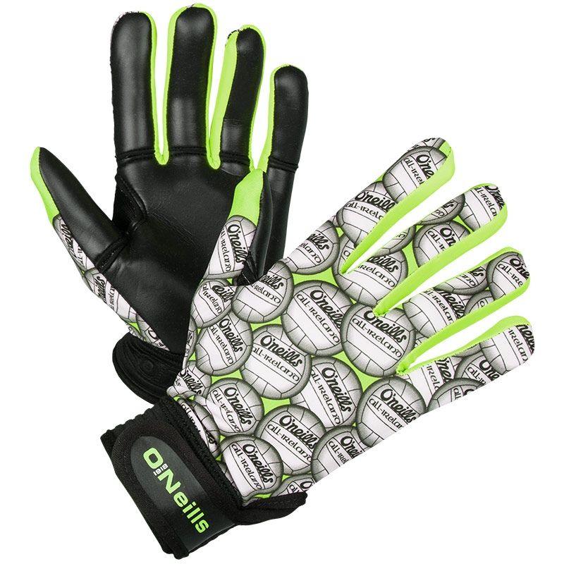 Challenge Ball GAA Gloves (Black/Neon Lime)