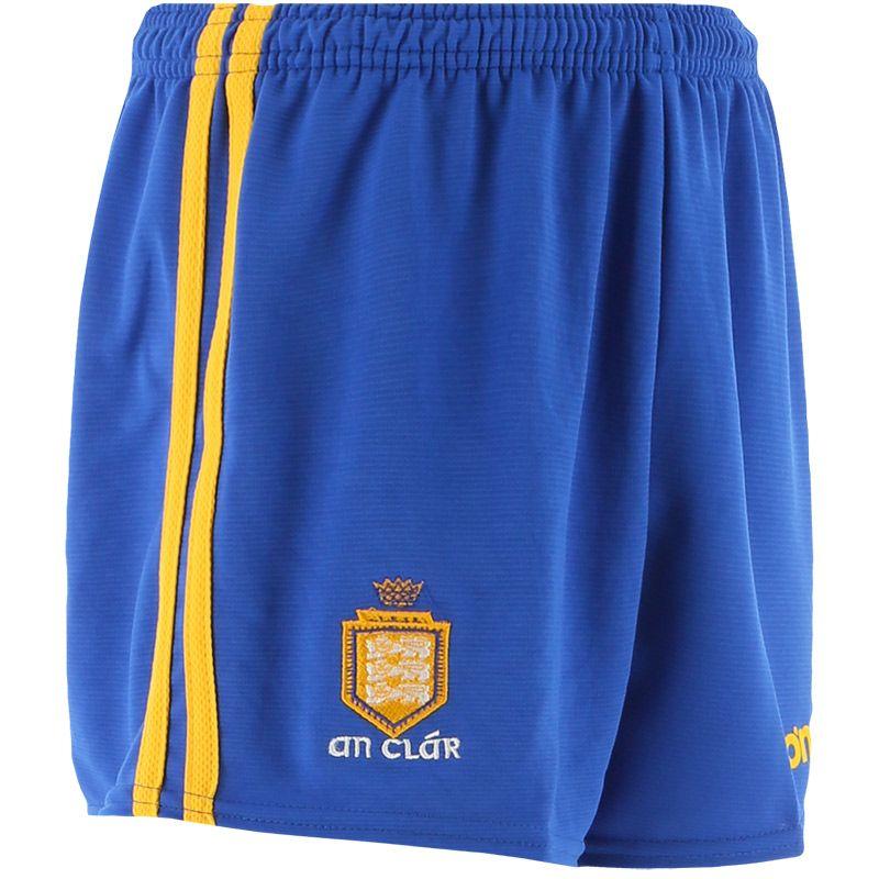 Clare GAA Kids' 2 Stripe Home Shorts