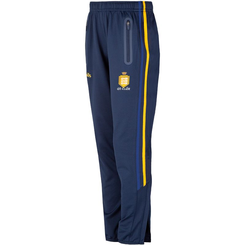 Clare GAA Kids' Nevis Brushed Skinny Pants Marine / Amber / Royal
