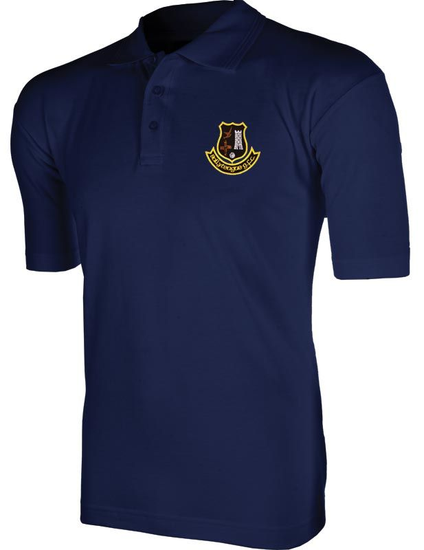 Ballyteague GFC Ridged Polo (Navy) (Kids)
