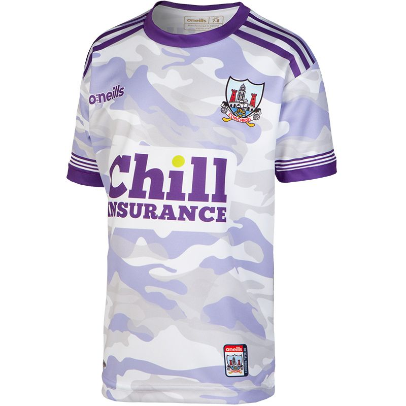 Cork GAA Kids' CamouflageShort Sleeve Training Top Purple