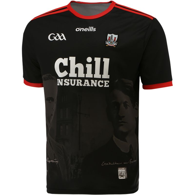 Cork GAA 2-Stripe 1920 Commemoration Jersey Black