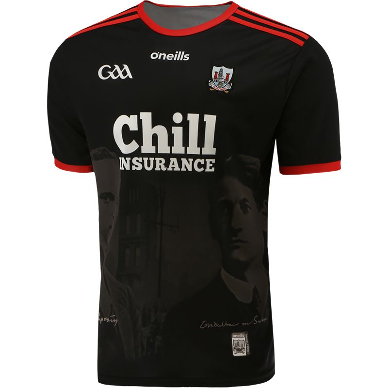 Cork GAA Player Fit 1920 Commemoration Jersey Black