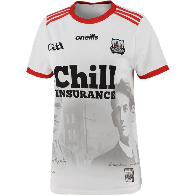 Cork GAA Women's Fit 1920 Commemoration Jersey White
