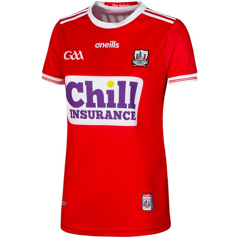 Cork GAA Womens Fit Replica 2-Stripe Jersey