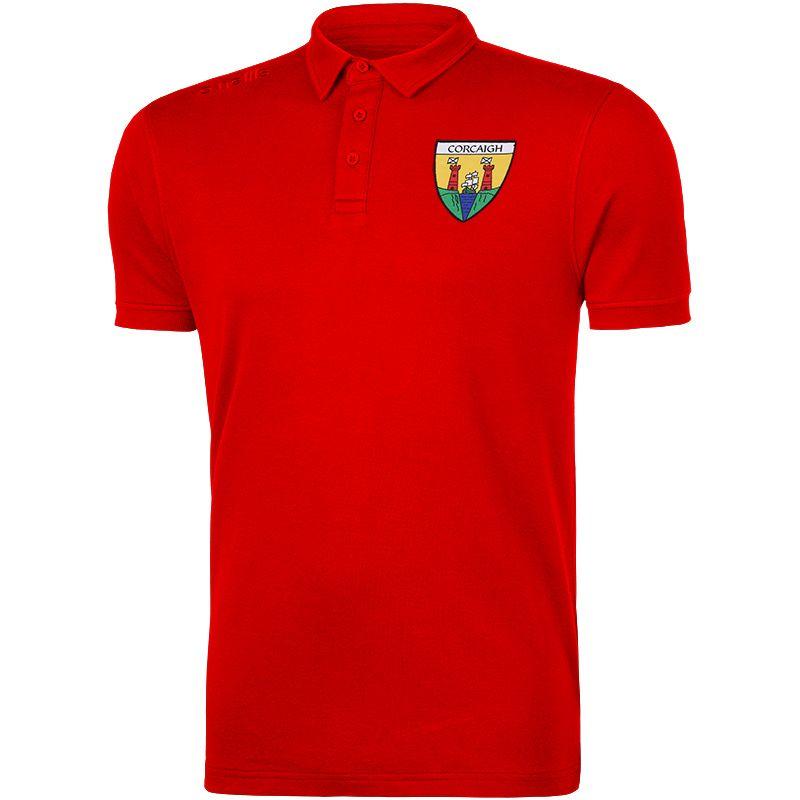 Cork GAA Men's Retro Pima Cotton Polo Red