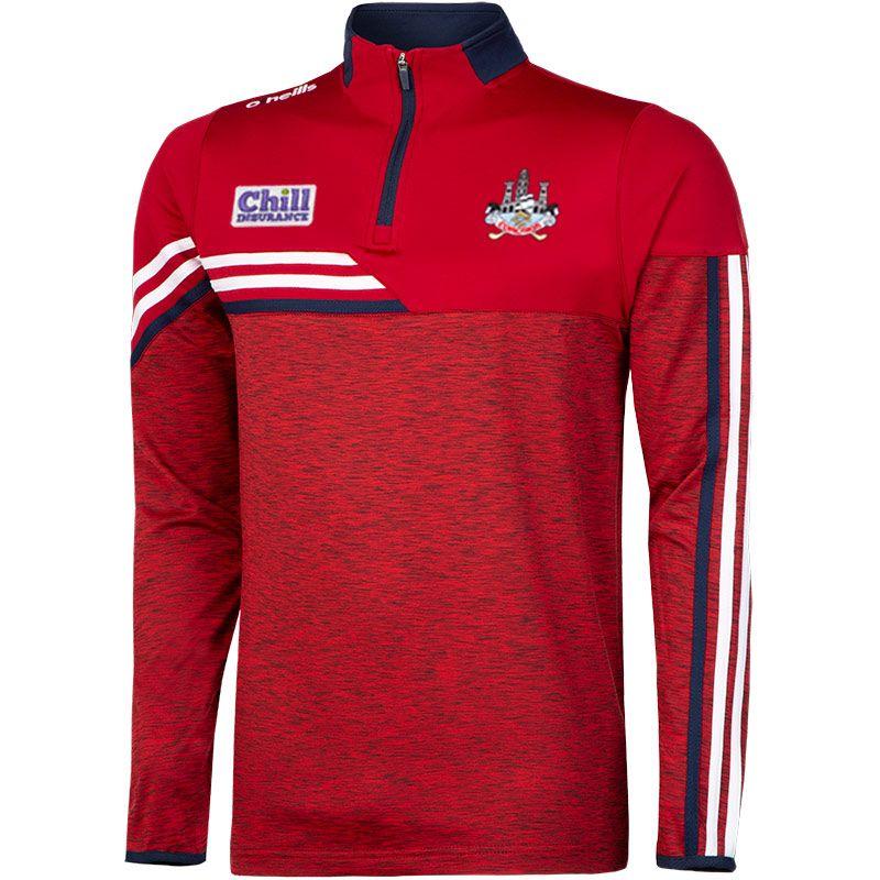 Cork GAA Men's Nevis Brushed Half Zip Red / White
