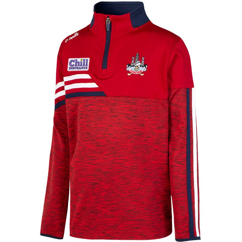 Cork GAA Kids' Nevis Brushed Half Zip Red / White