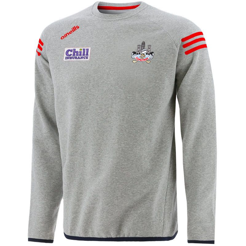 Cork GAA Kids' Voyager Crew Neck Sweatshirt Grey / Marine / Red