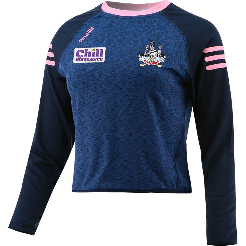 Cork GAA Women's Voyager Cropped Sweatshirt Marine / Pink
