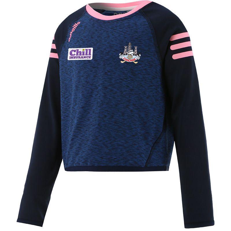 Cork GAA Kids' Voyager Cropped Sweatshirt Marine / Pink