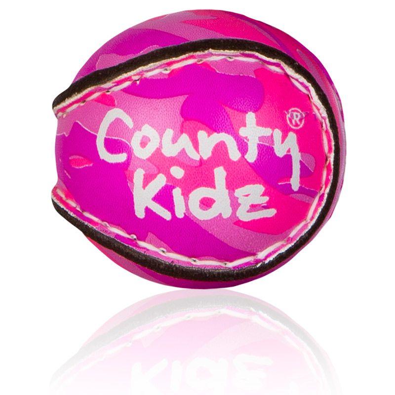 County Kidz Gaelic Hurling Ball (Pink Camouflage)