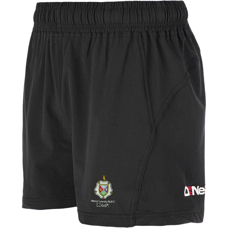 West Leeds Lions Junior Rugby Black Cyclone Shorts